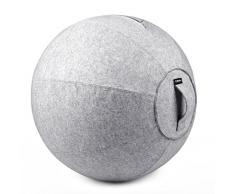 Stabilität Ball Chair für Office – Ergonomisches sitzen/Arbeit gebären Schwangerschaft/Yoga Balance Stabilität Übung Fitness, Light Gray Overlay, 65cm