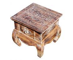 Unbekannt Holz Nachttisch Opiumtisch Telefontisch Beistelltisch hell Blume Tisch 19