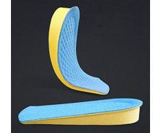 Mrjg Höhe Erhöhung Einlegesohlen-Kissen Höhe Aufzug Einstellbare Schuhabsatz Insert Taller invisiable Halbeinlegesohlen-Fuss-Auflagen air up (Color : Blue)