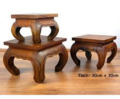 livasia Asiatischer Opiumtisch, Beistelltisch aus Massivholz der Marke Asia Wohnstudio, asiatischer Couchtisch, Nachttisch, Massivholz Möbel, (30cm)