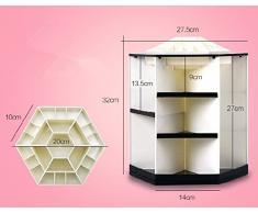Cosanter 360-Grad Drehbar Kosmetik Skincare Regal & Ablagen Ablagefach Multifunktional Kosmetiktabletts Mehrschicht-Design Kosmetikorganiser (Schwarz und Weiß)