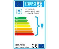 QAZQA Modern Stehleuchte / Stehlampe / Standleuchte / Lampe / Leuchte Rich weiß / Innenbeleuchtung / Wohnzimmer / Schlafzimmer / Küche Metall / Textil / Rund LED geeignet E27 Max. 1 x 60 Watt