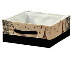 KESPER 19512 AUFBEWAHRUNGSKORB ,,Paris BOX KISTE Textil KORB ORDNUNGSBOX faltbar REGAL