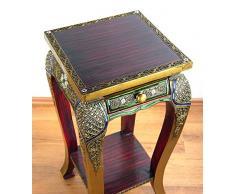 Hoher Opiumtisch im Glasmosaik Design, mit Schublade, Beistelltisch, asiatischer Tisch, Nachttisch (Handarbeit)
