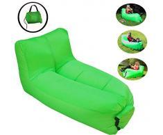 Aufblasbarer Sofa Stuhl Tragbarer aufblasbarer Liegestuhl Luftsofa mit Verstellbarer Rückenlehne Aufblasbarer Lounge-Sessel