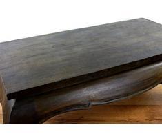 Opiumtisch aus Massivholz, Asiatischer Couchtisch der Marke Asia Wohnstudio, Massiver Sofatisch, (schwarz-braun)