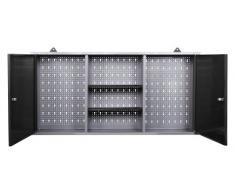 Ondis24 großer Werkstattschrank Werkzeugschrank, TÜV geprüft, Werkstatt 120 cm breit mit 2 Lagerregalen