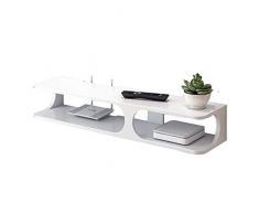 Lwieui Kinder Sofa Kinder Wand- TV Schrank Wand Multimedia-Konsole TV-Ständer Multifunktions-Display Lagerregal Sessel (Farbe : Weiß, Größe : 90x22x15cm)