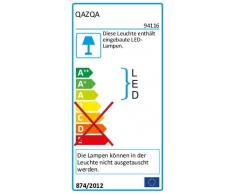 QAZQA Modern Stehleuchte/Stehlampe/Standleuchte/Lampe/Leuchte Line-up LED Chrom Dimmer/Dimmbar/Innenbeleuchtung/Wohnzimmerlampe/Schlafzimmer Kunststoff/Metall Rund / (nicht austauschb
