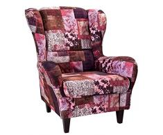 Patchwork sessel g nstige patchwork sessel bei livingo for Ohrensessel willy