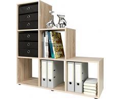 CSSchmal Stufenregal, Holz, eiche, 32 x 105 x 106 cm