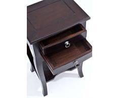 CLP Beistell-Tisch LINDA, Mahagoni-Holz, ca. 40 x 30 cm, Höhe ca. 65 cm, Kolonialstil, Nachttisch, Telefontisch, Pflanzentisch braun