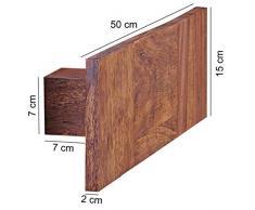 WOHNLING Handtuchhalter Massivholz Sheesham 50 cm Wandregal Landhaus-Stil Bad-Zubehör Badezimmer-Möbel Natur-Produkt Badregal Design Handtuchstönder Naturholz unbehandelt Badablage zum Aufhöngen