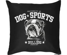 Goodman Design Kissen mit coolem Hundemotiv - Dog Sports - Bulldog - Für Tierliebhaber - Couch Kissen - Geschenkidee