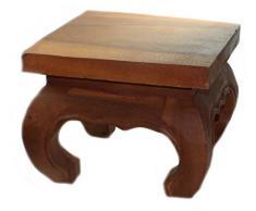 budawi® - kleiner Opiumtisch 25 x 25cm, Beistelltisch Couchtisch, Nachttisch, Massivholz Möbel (Handarbeit)