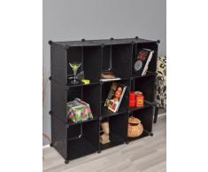 Büro Flur Regal Schrank Steckregal Wandregal Sideboard in Schwarz