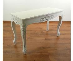 Balinesischer Couchtisch | Opiumtisch | Asiatische Möbel der Marke Asia Wohnstudio | Sofatisch | Kaffeetisch | Beistelltisch | Handarbeit | (weiß)