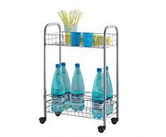 Metaltex 382508039 Allzweckwagen mit Flaschenhalter Milano