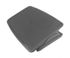 PrimeMatik - Fußstütze Fußauflage mit Verstellbarer Plattform aus schwarzer Farbe Kunststoff 450 x 350 mm