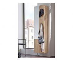 Spiegelschuhschrank Drehschrank mit Spiegel für 11 Paar Schuhe Eiche sägerau