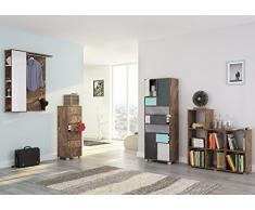 Schildmeyer 700758 Highboard, 60 x 131,5 x 33 cm, eiche antik dekor
