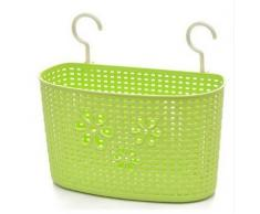 iTemer Kunststoffkorb Zur Wandmontage oder Hängen Körben Korbregal platzsparend Handtaschen Korb Stapelbaren Körben Grün 1pcs