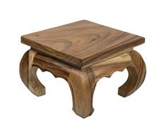 Kleiner Opiumtisch 30x30x23 cm Massivholz Handarbeit, Natur. Als Beistelltisch, Hocker oder Tisch für Pflanzen