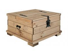 Loft24 A/S Truhen-Couchtisch Truhe Holztruhe Tisch Kiste Aufbewahrungsbox Kaffeetisch Kiefer in Havana Länge 72 cm 110 cm (hell gebeizt, 72 cm)
