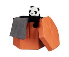 Hocker mit stauraum in orange bei livingo online kaufen