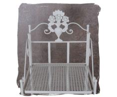BADEZIMMERREGAL Landhaus Weiss Regal ANTIK EISENREGAL Shabby CHIC Palazzo Exclusive