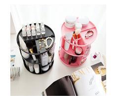 Make-up Organizer 360-degree drehbar, Make-up-Regal, verstellbar Multifunktions-große Kapazität mit Halter, ABS-Kunststoff, weiß, 23*23*31cm