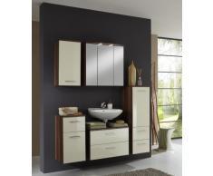 Held Möbel 051.3055 Next Unterschrank 1-türig, 1 Einlegeboden, 1 Schubkasten, 35x69x35 cm, hochglanz-creme / nussbaumfarben