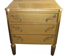 Casa Padrino Barock Kommode Gold B60 H69 cm - Handgefertigte Art Deco Möbel