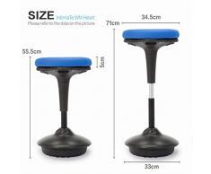 IntimaTe WM Heart Arbeitshocker, Bürohocker, Ergonomische Stehhilfe, Hoch verstellbar 360° drehbar Sitzhocker Drehhocker, Perfekt für Stehpult (Blau)