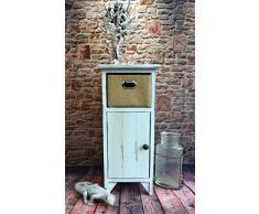 Beistelltisch Kommode Konsole Konsolentisch Telefontisch Landhaus Shabby Weiß LV1087
