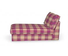 FRANC-TEXTIL 704-142-07 Kivik Recamiere Sofabezug, Mirella, rosa / beige