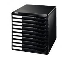 Leitz 52940095 Schubladenset Formular-Set, 10 Schubladen, schwarz