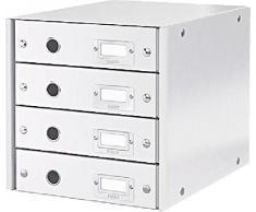 LEITZ Schubladenset Click & Store, 6049-00-01, weiß, 251x59x330mm, 1.500g/qm