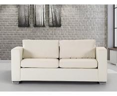 Sofa / Couch Beige - Ledersofa / 3-Sitzer Helsinki