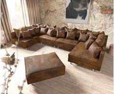Ledersofa braun antik  Sofa Antik » günstige Sofas Antik bei Livingo kaufen
