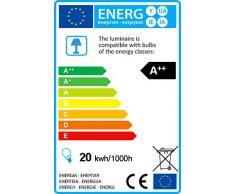 QAZQA Modern Tischleuchte/Tischlampe/Lampe/Leuchte Disco bronze Dimmer/Dimmbar/Innenbeleuchtung/Wohnzimmer/Schlafzimmer Glas/Metall/Rund inklusive LED (nicht austauschbare) LED Max.