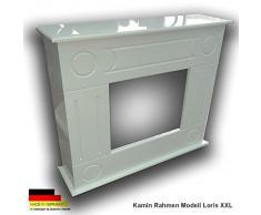 Ethanol & Elektrokamin Kaminkonsole Gelkamin Kaminumbau Loris XXL Weiss Rahmen
