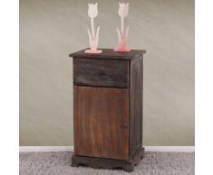 Kommode Beistelltisch Nachttisch Telefontisch, 63x35x29cm, Shabby-Look, Vintage ~ braun