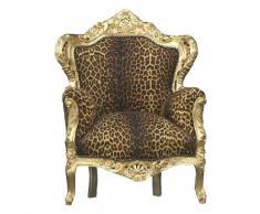 Casa Padrino Barock Sessel King Leopard/Gold
