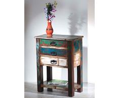 SIT-Möbel 9156-98 Telefontisch, 3 Schubladen, 1 Ablageboden, 60 x 32 x 79 cm