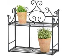 Esschert Design Wandetagere 47,8x21x49,6 cm faltbar Regal Garten Etagere Eisen