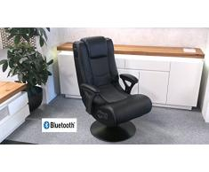 Lifestyle For Home Gaming Chair Drehsessel Music Rocker mit Bluetooth Sound Musiksessel Soundchair
