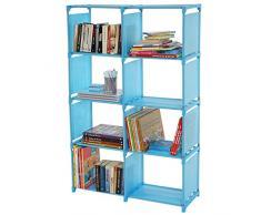 Bücherregal Gard, Regalsystem Steckregal Aufbewahrung, je Box 31x39x28cm ~ blau