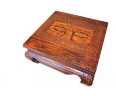 Unbekannt Tisch Opiumtisch Buddha Eye II Beistelltisch H 30 cm, Tischfläche 60 x 60 cm
