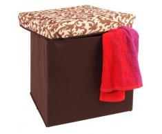 Wäschehocker Dekorativ und Praktisch, Größe:31x31x31;Design:Blume